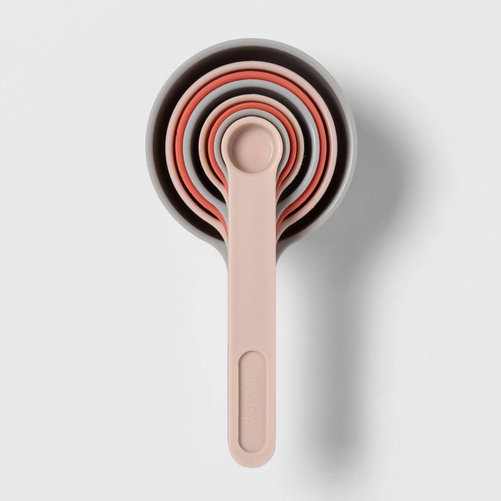 8pc Plastic Measuring Cups Pink - Room Essentials