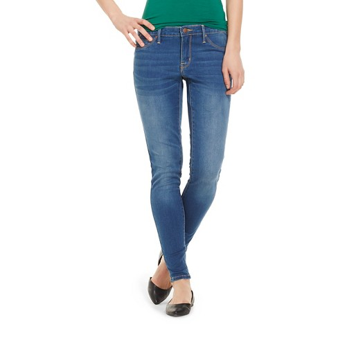 Women's Mid-rise Jeggings (Modern Fit) - Mossimo™ Medium Wash 14 Short - image 1 of 2