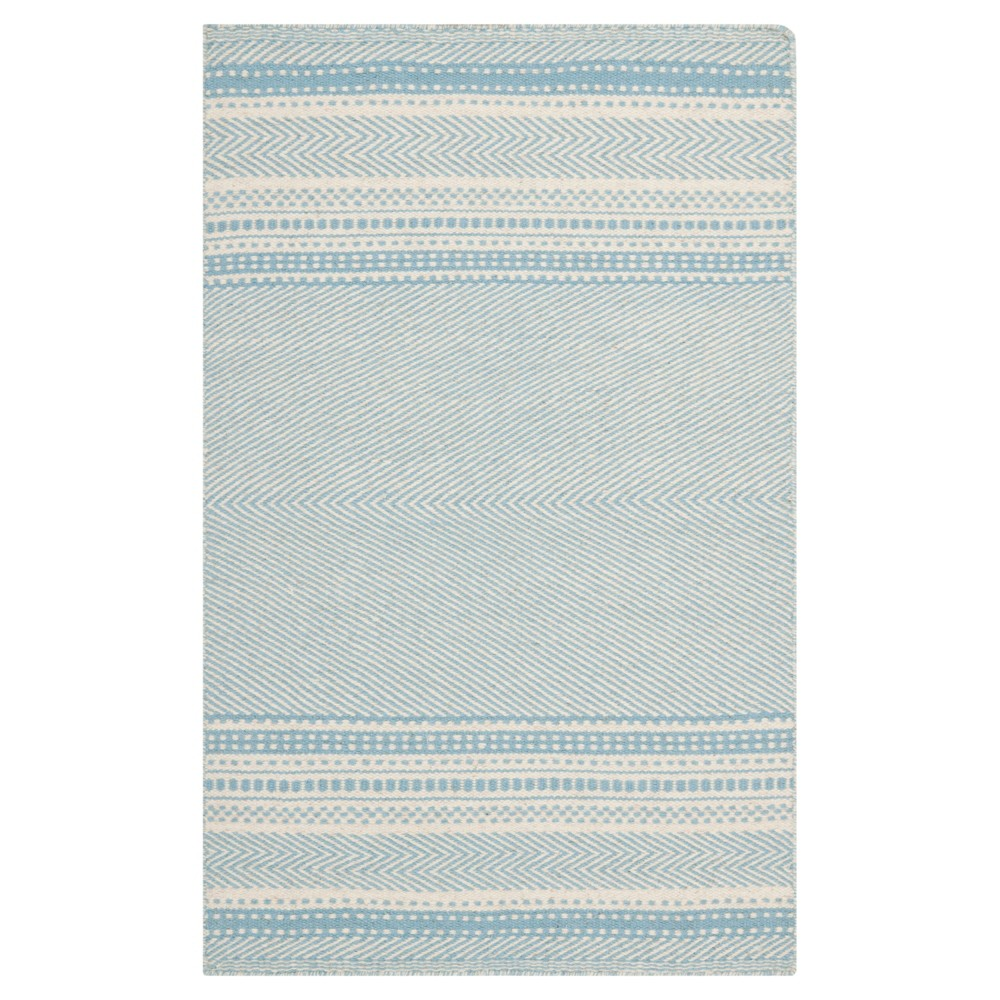 Rhea Accent Rug - Light Blue / Ivory (3' X 5') - Safavieh