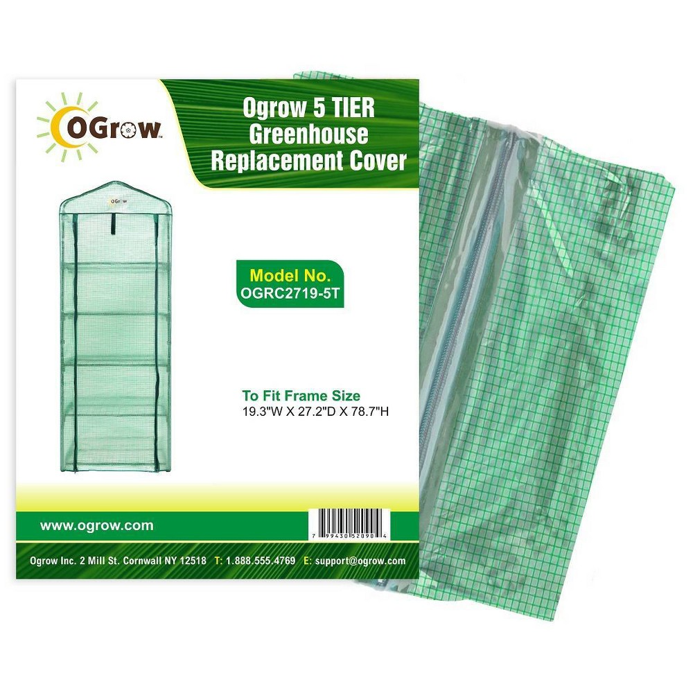 Image of 5 Tier Greenhouse PE Replacement Cover Green - OGrow