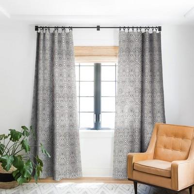 Alison Janssen Hand Drawn Deco Single Panel Blackout Window Curtain - Society6