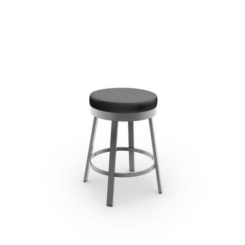 """Amisco Clock 30"""" Bar Stool with Upholstered Seat - image 1 of 2"""