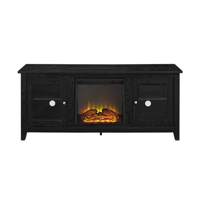 "Cozy Glass Door Fireplace TV Stand for TVs up to 65"" - Saracina Home"