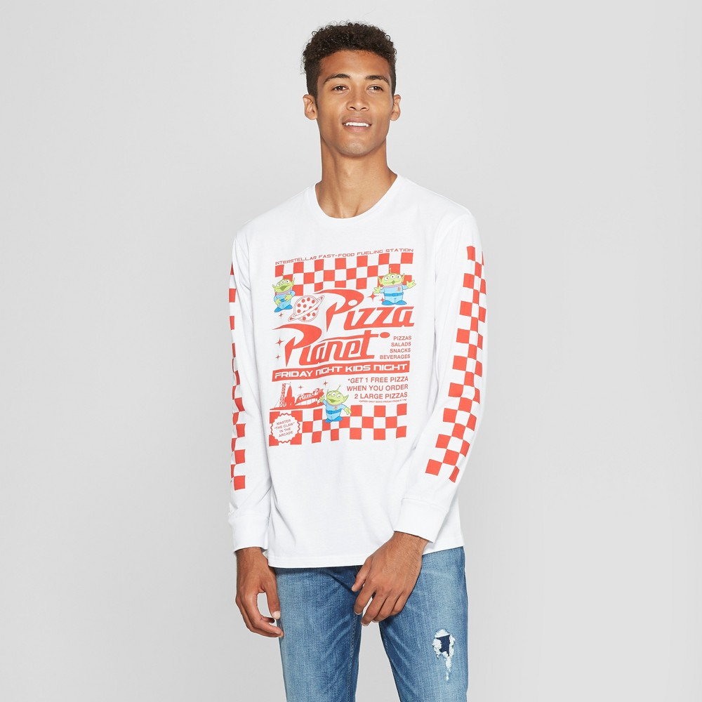 Men's Disney Toy Story Long Sleeve T-Shirt - White M
