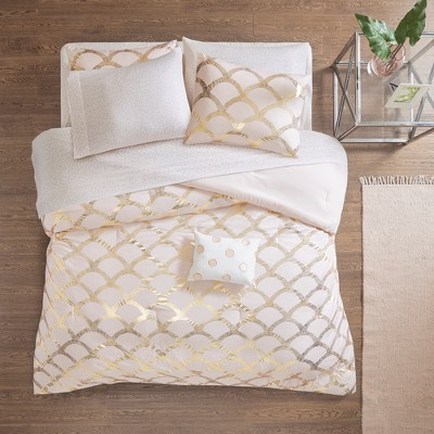 8pc Queen Janelle Comforter and Sheet Set Blush