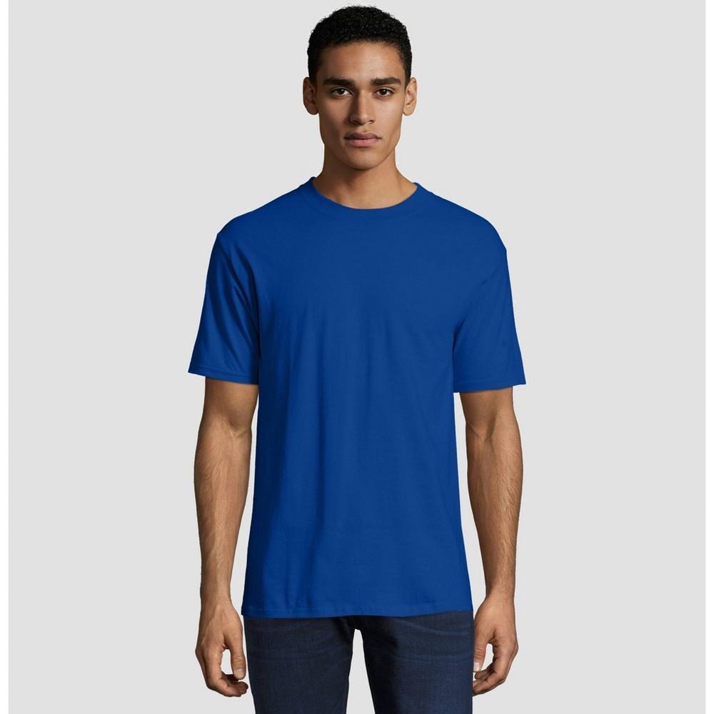 Hanes Mens Big Tall Short Sleeve Beefy T Shirt Deep Blue 3xl
