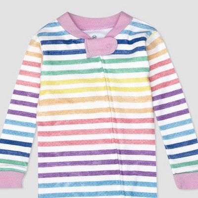 Honest Baby Girls' Striped Footed Pajama