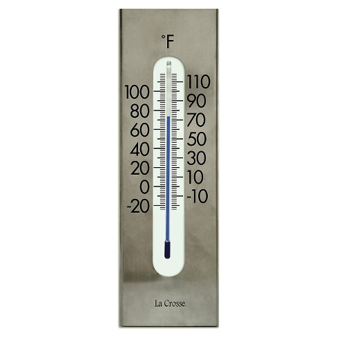 "La Crosse 9"" Metal Thermometer - Silver - image 1 of 2"