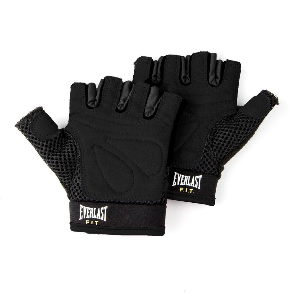 Everlast Fit EverCool Weightlifting Gloves L/XL - Black
