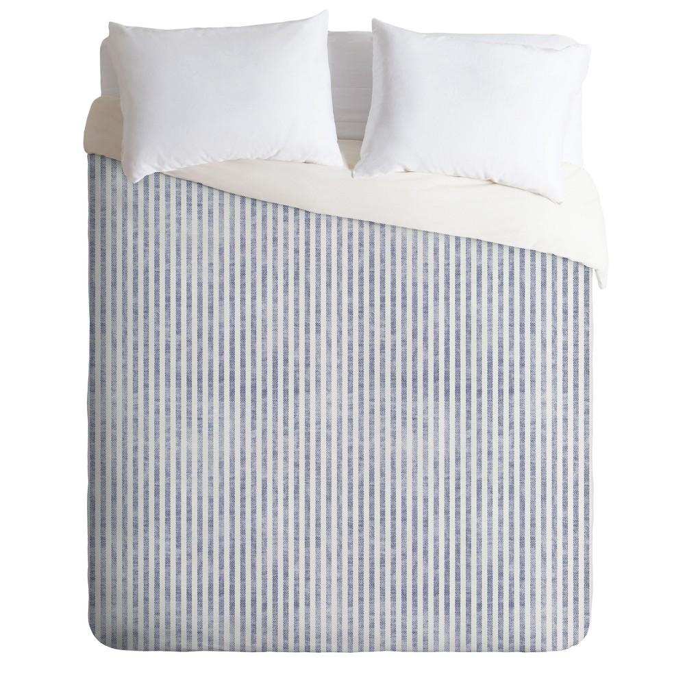 Full/Queen Holli Zollinger Agean Stripe Duvet Set Blue - Deny Designs