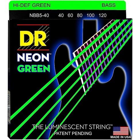 DR Strings NEON Hi-Def Green Bass SuperStrings Light 5-String - image 1 of 2