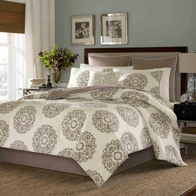 Brown Medallion Duvet Cover Set (King)- Stone Cottage