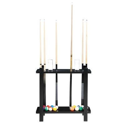 Hathaway Classic Floor Billiard Pool Cue Rack - Black