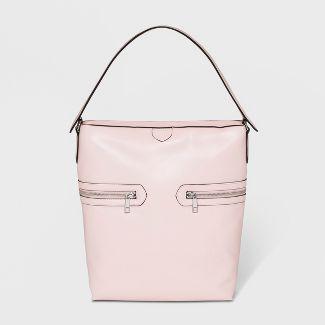 Zipper Tab Hobo Handbag - A New Day™ Pink