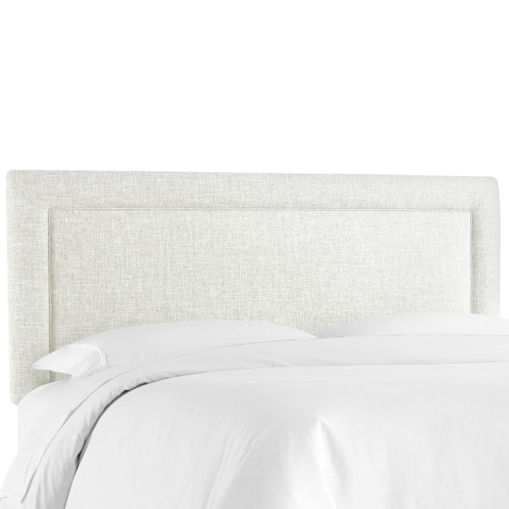 Border Headboard - White - California King - Skyline Furniture Best