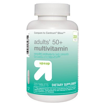Adults 50+ Multivitamin Tablets - 220ct - up & up™