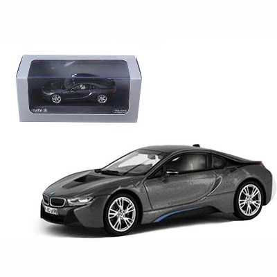 BMW i8 Grey with Blue 1/43 Diecast Model Car by Paragon
