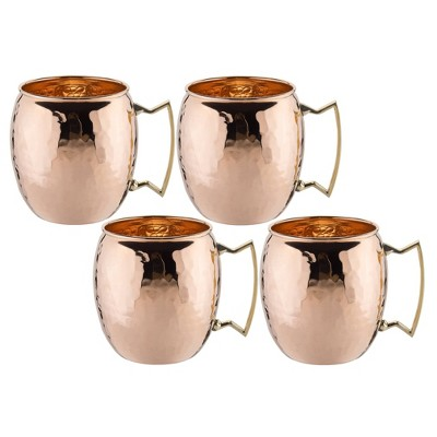 Old Dutch 16oz 4pk Copper Hammered Moscow Mule Mugs