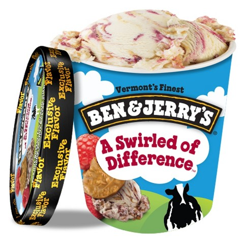 Ben & Jerry's A Swirled Of Difference Ice Cream - 16oz - image 1 of 7