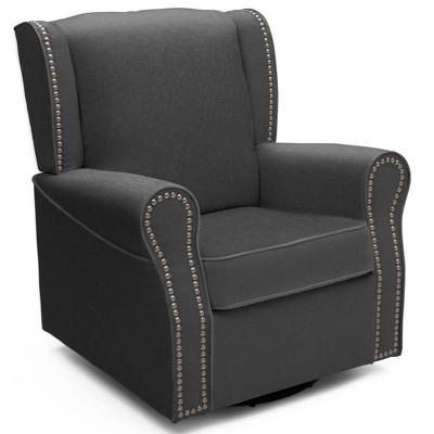 Delta Children Middleton Nursery Glider Swivel Rocker Chair – Charcoal