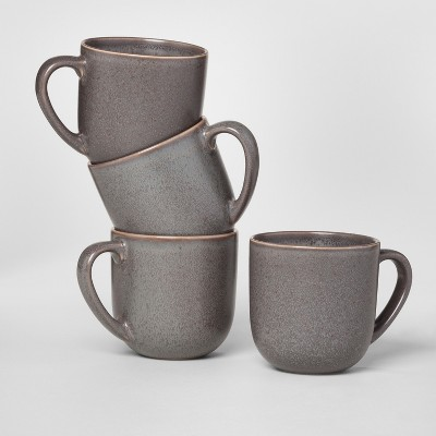 13oz 4pk Stoneware Tilley Mug Brown - Project 62™
