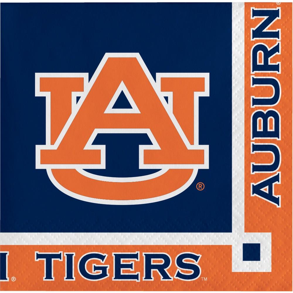 Image of 20ct Auburn Tigers Beverage Napkins