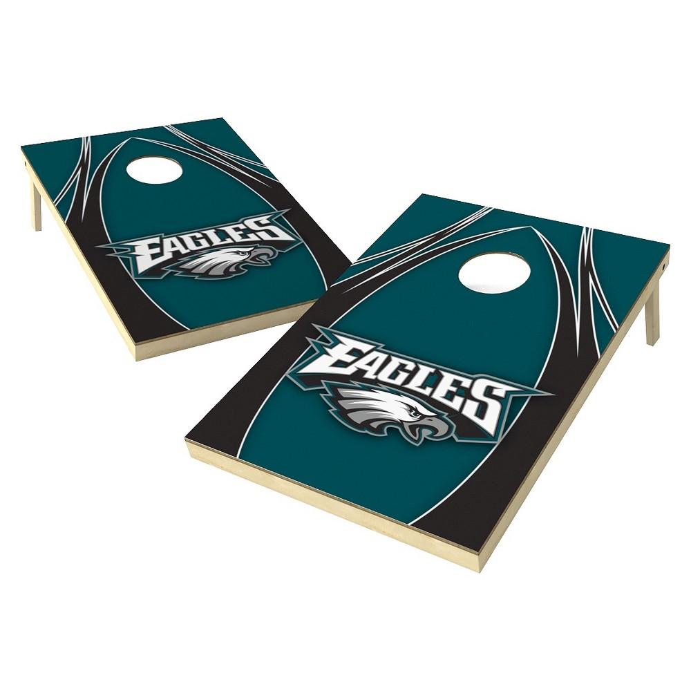 Philadelphia Eagles Wild Sports Platinum Shield Cornhole Bag Toss Set - 2x3 ft.