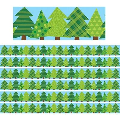 6pk 35ft Woodland Friends Pine Trees Classroom Borders - Creative Teaching Press