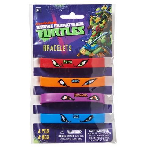 53735cfe1 4ct Teenage Mutant Ninja Turtles Rubber Bracelets : Target