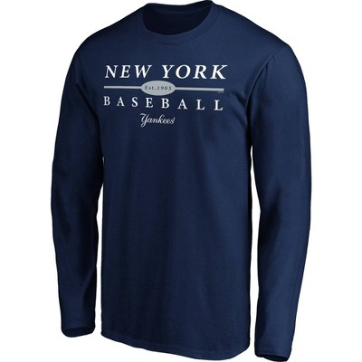 MLB New York Yankees Men's Long Sleeve Core T-Shirt