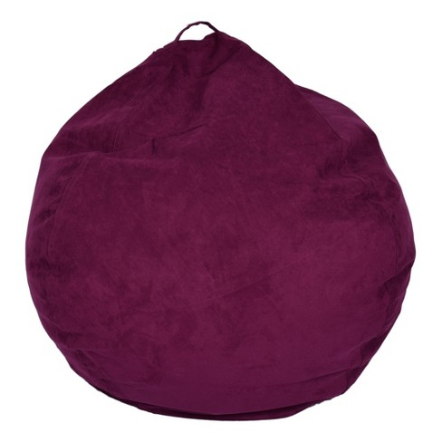 Miraculous Bean Bag Chair Purple Reservation Seating Evergreenethics Interior Chair Design Evergreenethicsorg