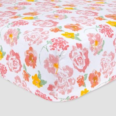 Burt's Bees Baby® Rosy Spring Crib Sheet