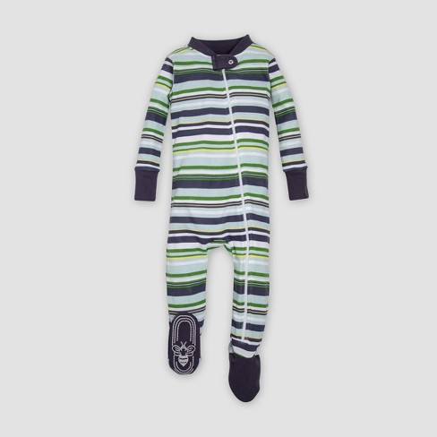 76b7dd548 Burt s Bees Baby® Organic Cotton Boys Vintage Stripe Sleeper ...
