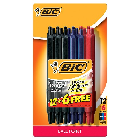 BIC Retractable Ballpoint Pens, 1.0mm, 18ct - Multiple Colors Ink - image 1 of 4