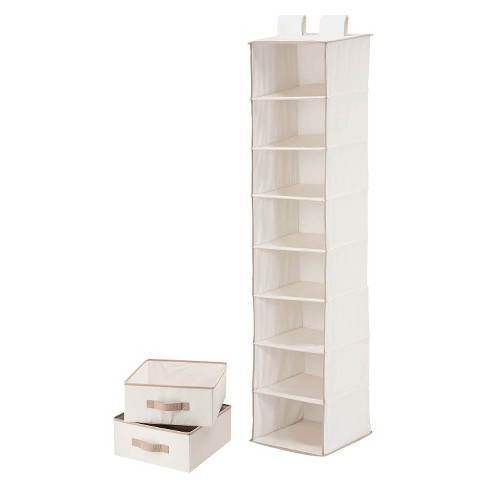 8 Shelf Organizer and 2 Drawers Natural - image 1 of 3
