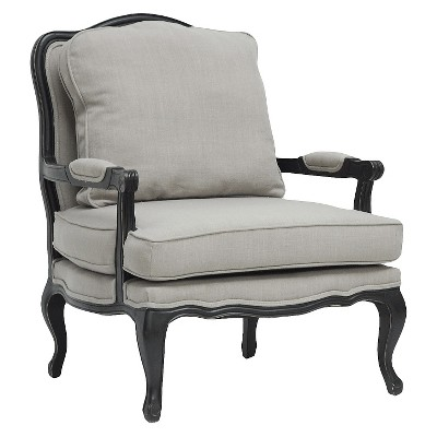 Antoinette Classic Antiqued French Accent Chair   Baxton Studio