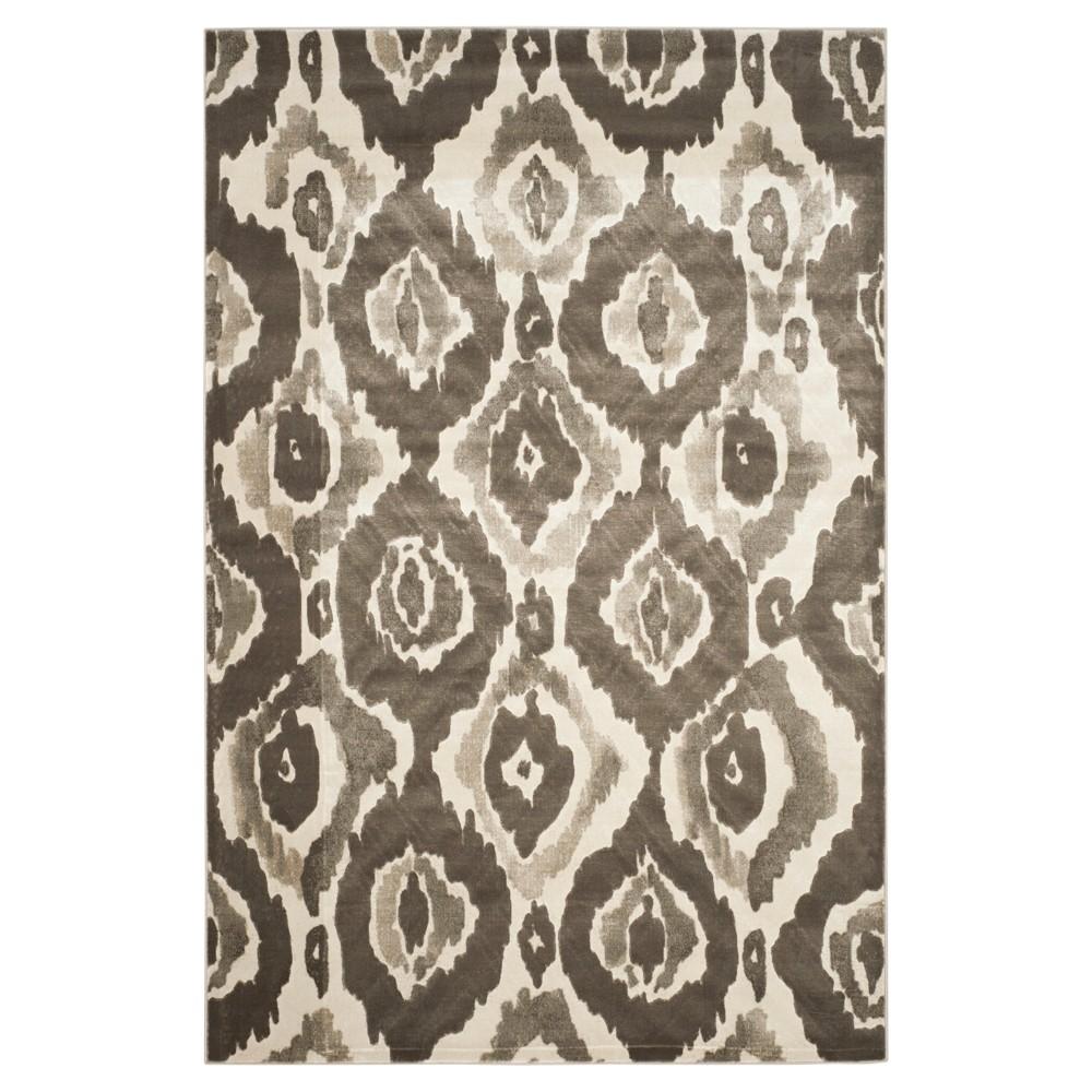 Sameh Area Rug - Ivory / Dark Gray ( 6' X 9' ) - Safavieh