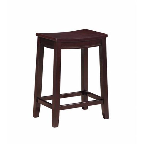 Awe Inspiring Aubree Wooden Counter Saddle Stool Counter Stool Espresso Linon Beatyapartments Chair Design Images Beatyapartmentscom