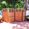 """Sunnydaze Outdoor Patio or Porch Meranti Wood with Teak Oil Finish Folding Privacy Screen Fence - 44"""" - image 3 of 4"""