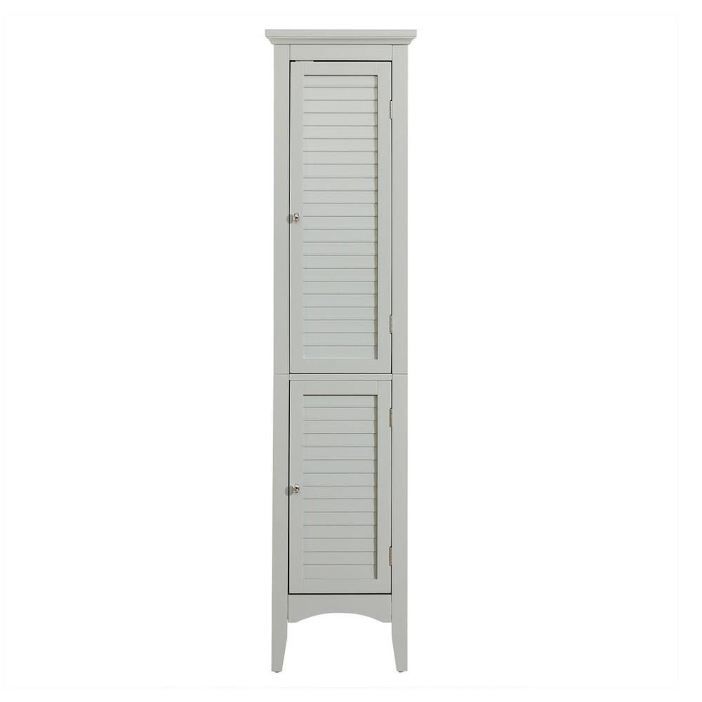 Glancy Linen Tower 63 Gray - Elegant Home Fashions