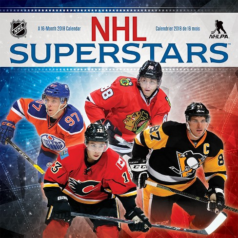2018 NHL Superstars Bilingual (French) Wall Calendar - Trends International - image 1 of 4