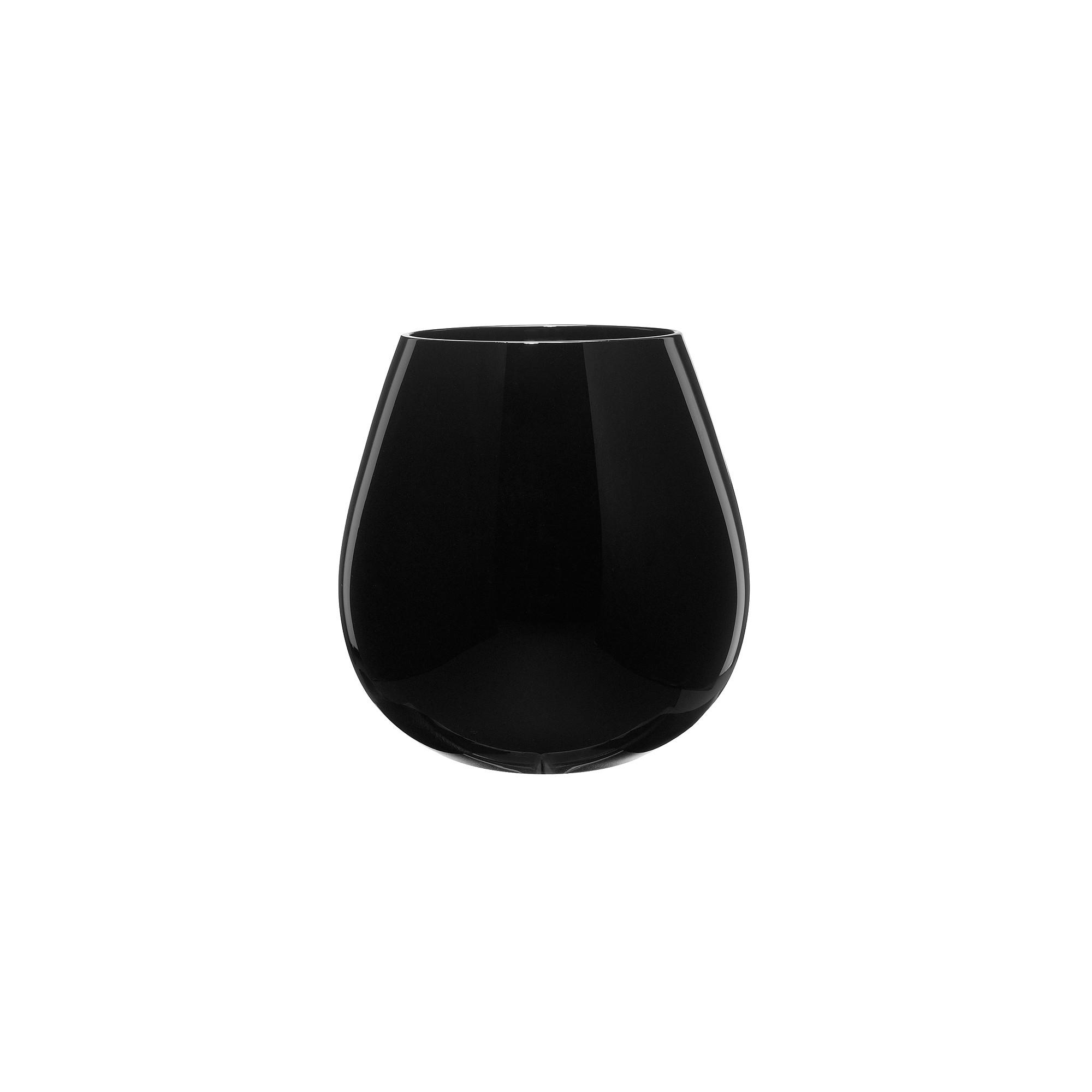 Artland 22oz 4pk Round Stemless Wine Glasses Black