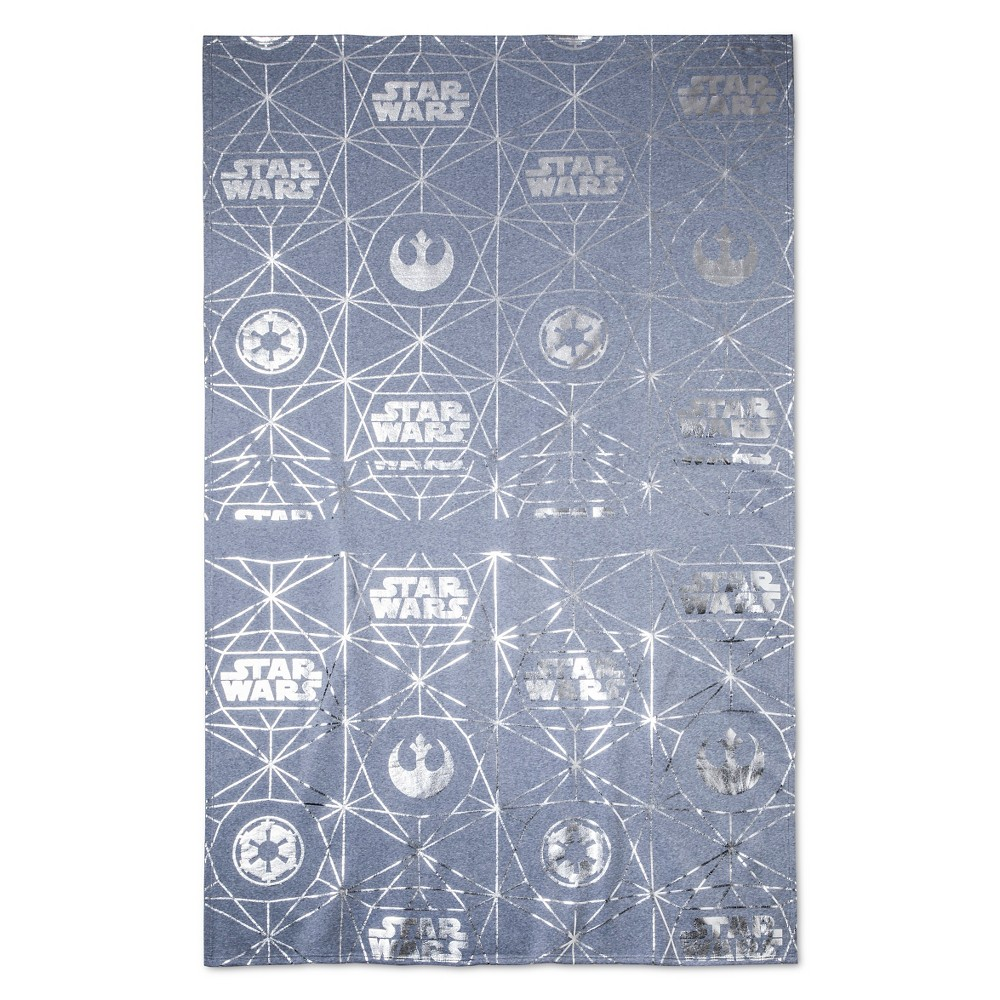 Star Wars Bed Blanket Silver, Gray