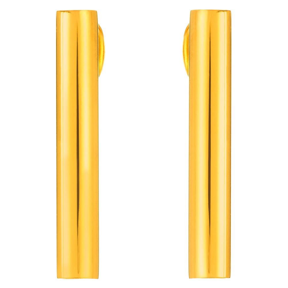 Image of ELYA Bar Stud Earrings - Gold, Women's, Size: Small