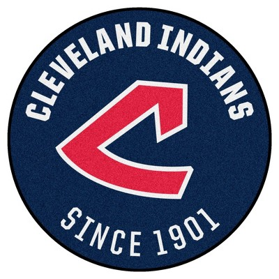 """MLB Cleveland Indians 27""""x27"""" 1973 Retro Collection Roundel Rug"""