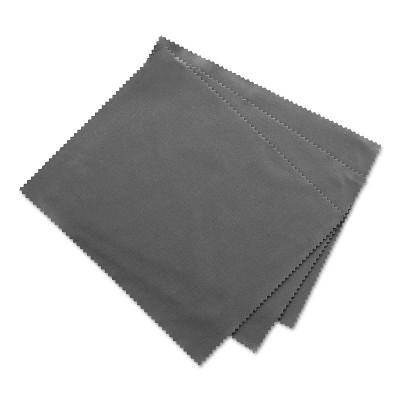 "Innovera Microfiber Cleaning Cloths 6"" x 7"" Grey 3/Pack 51506"