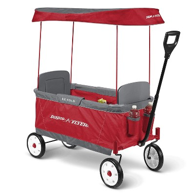 Radio Flyer 2 Passenger Ultimate EZ Folding Wagon for Children and Cargo, Red