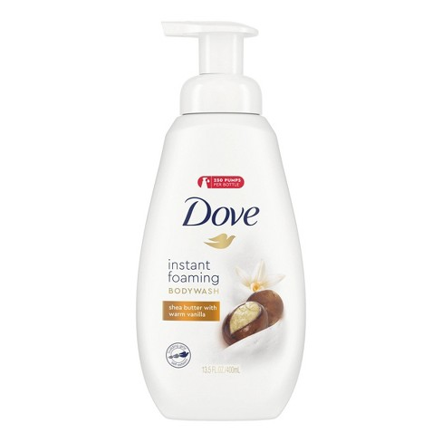 Dove Shea Butter & Warm Vanilla Shower Foam Body Wash - 13.5 fl oz - image 1 of 4