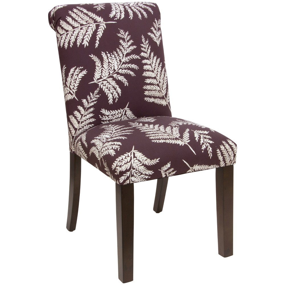 Simone Rolled Back Dining Chair Fern Plum - Cloth & Co.