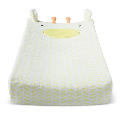 Plush Changing Pad Cover Giraffe - Cloud Island™ - Yellow